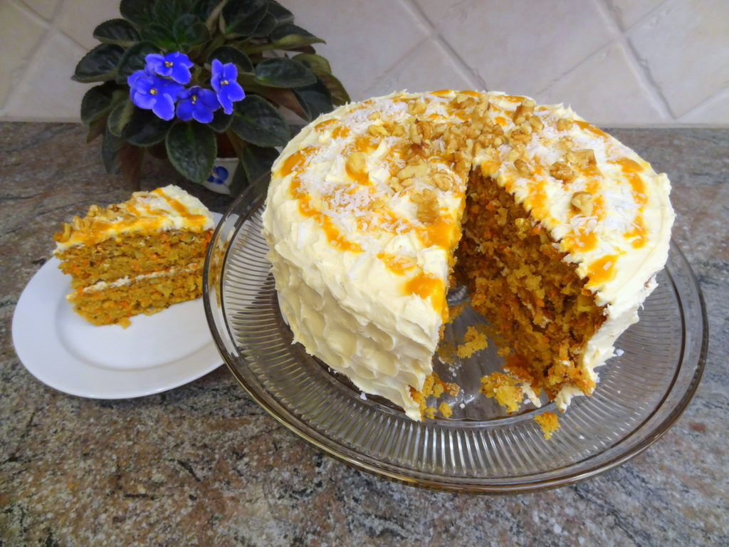 carrot mango pineapple cake