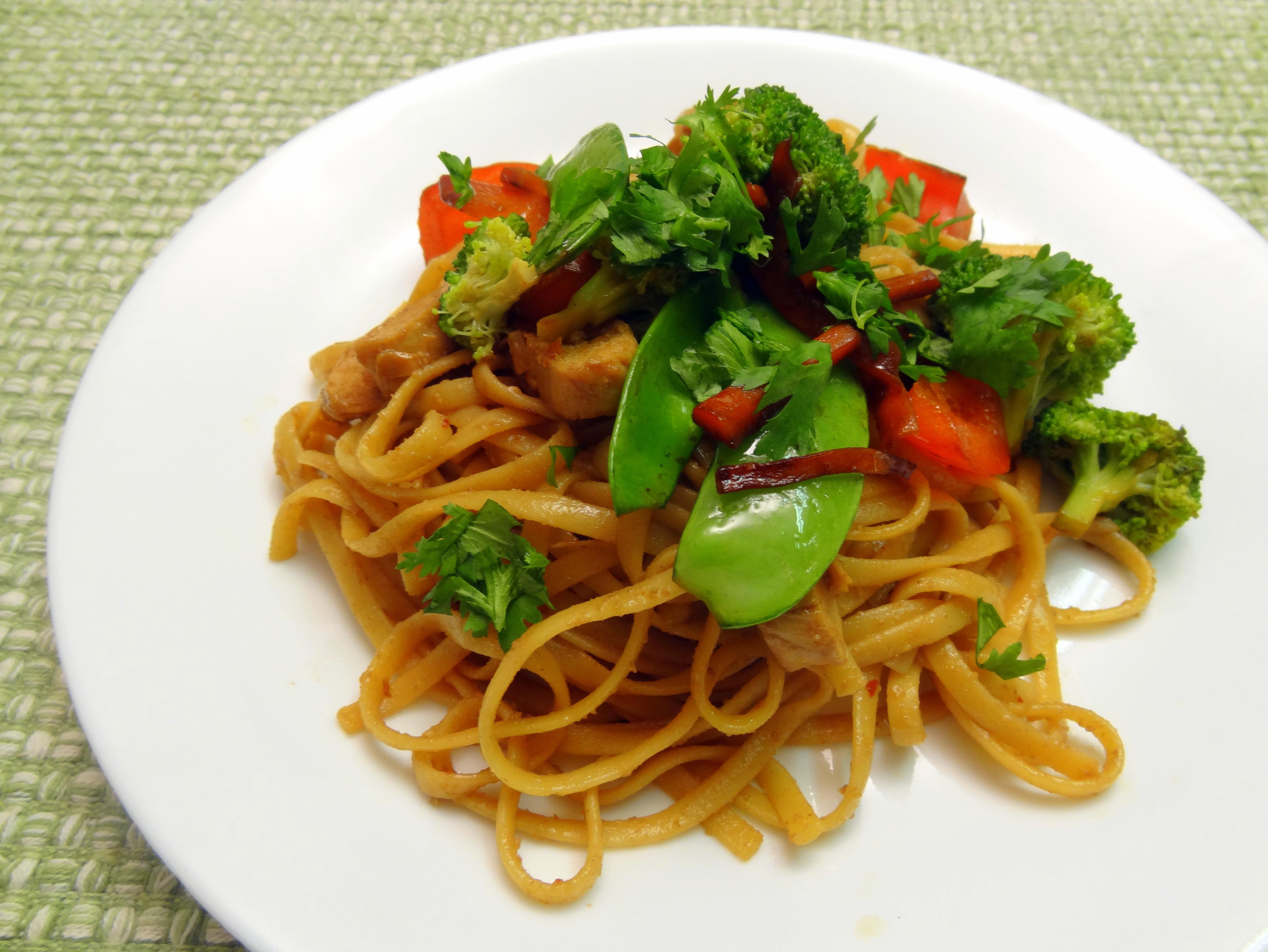 peanut noodle stir-fry