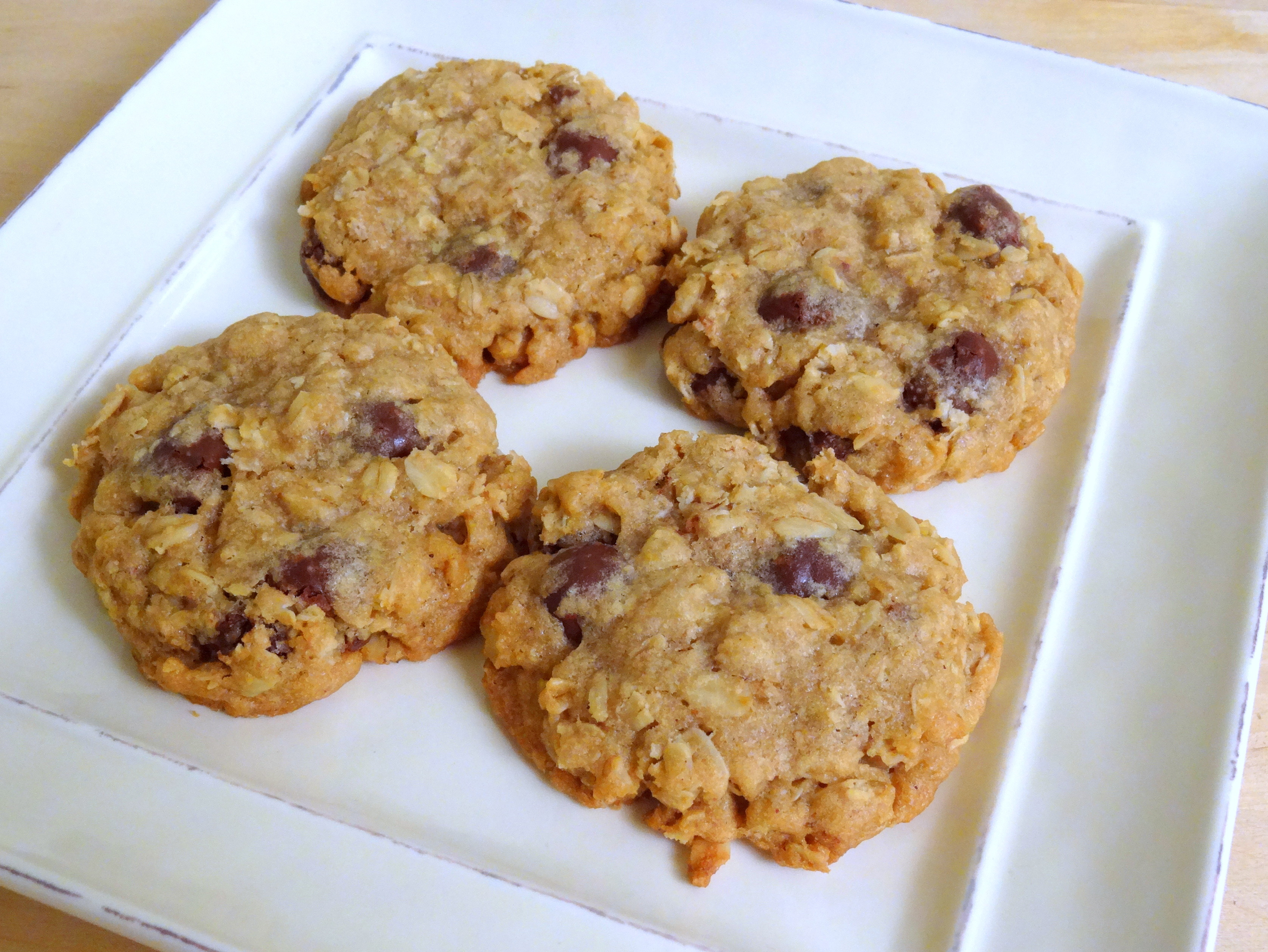 Brown Butter Oatmeal Cookies with Chocolate-Covered Raisins