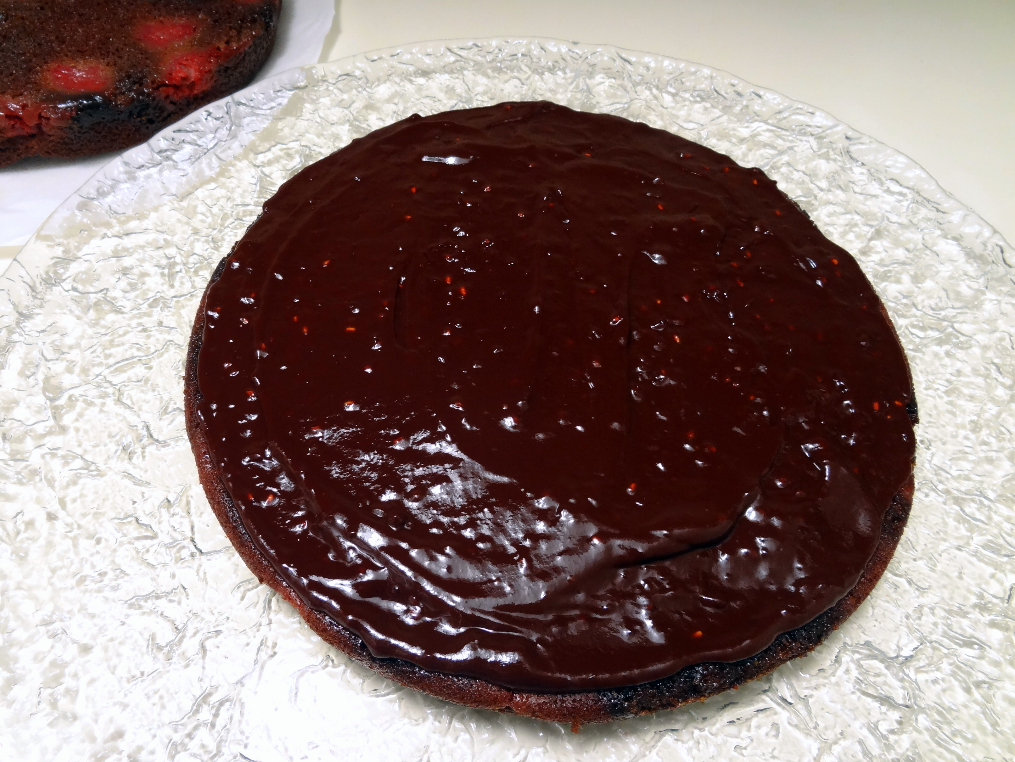 chocolate ganache layer