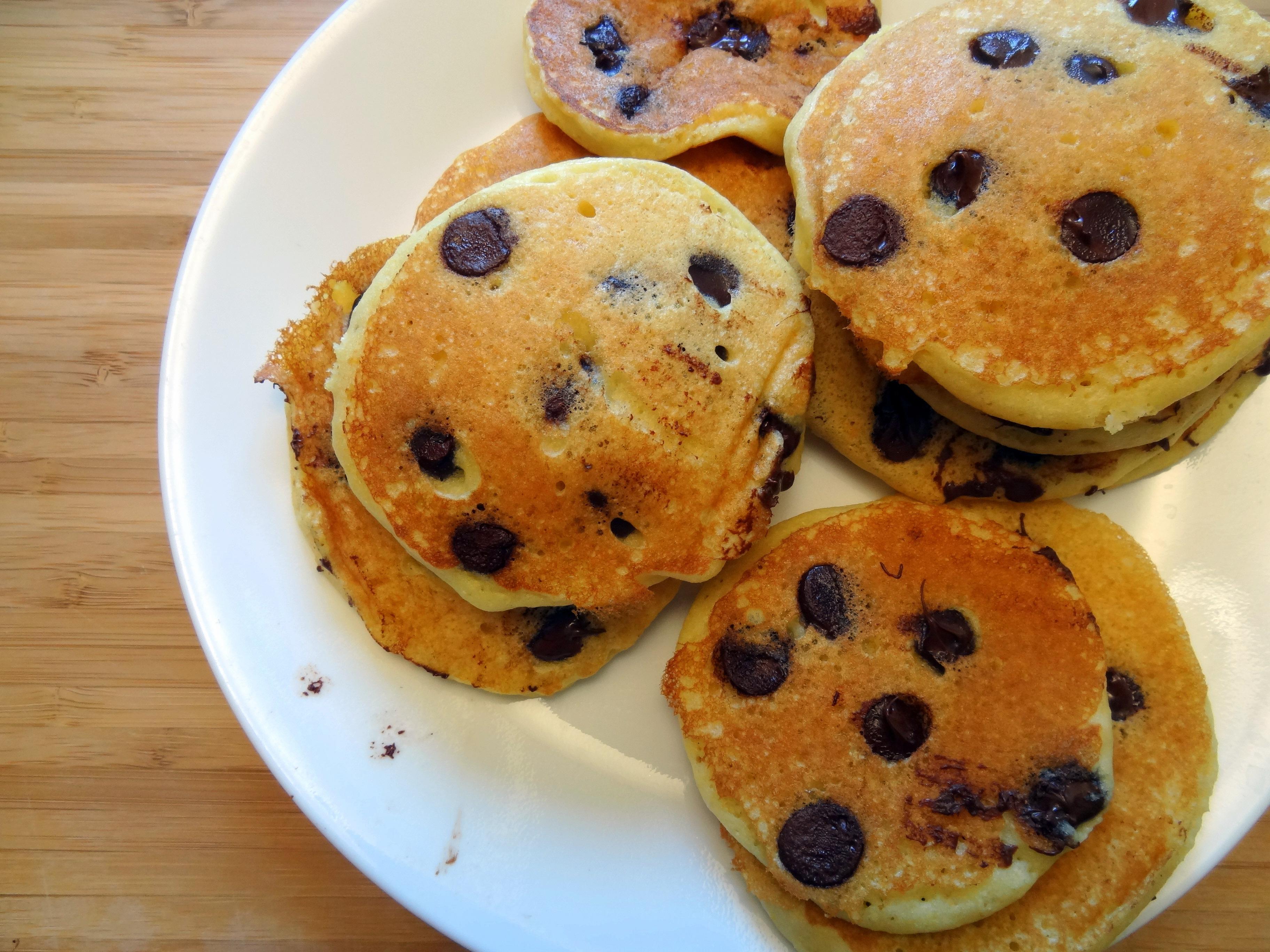 cornmeal chocolate chip pancakes