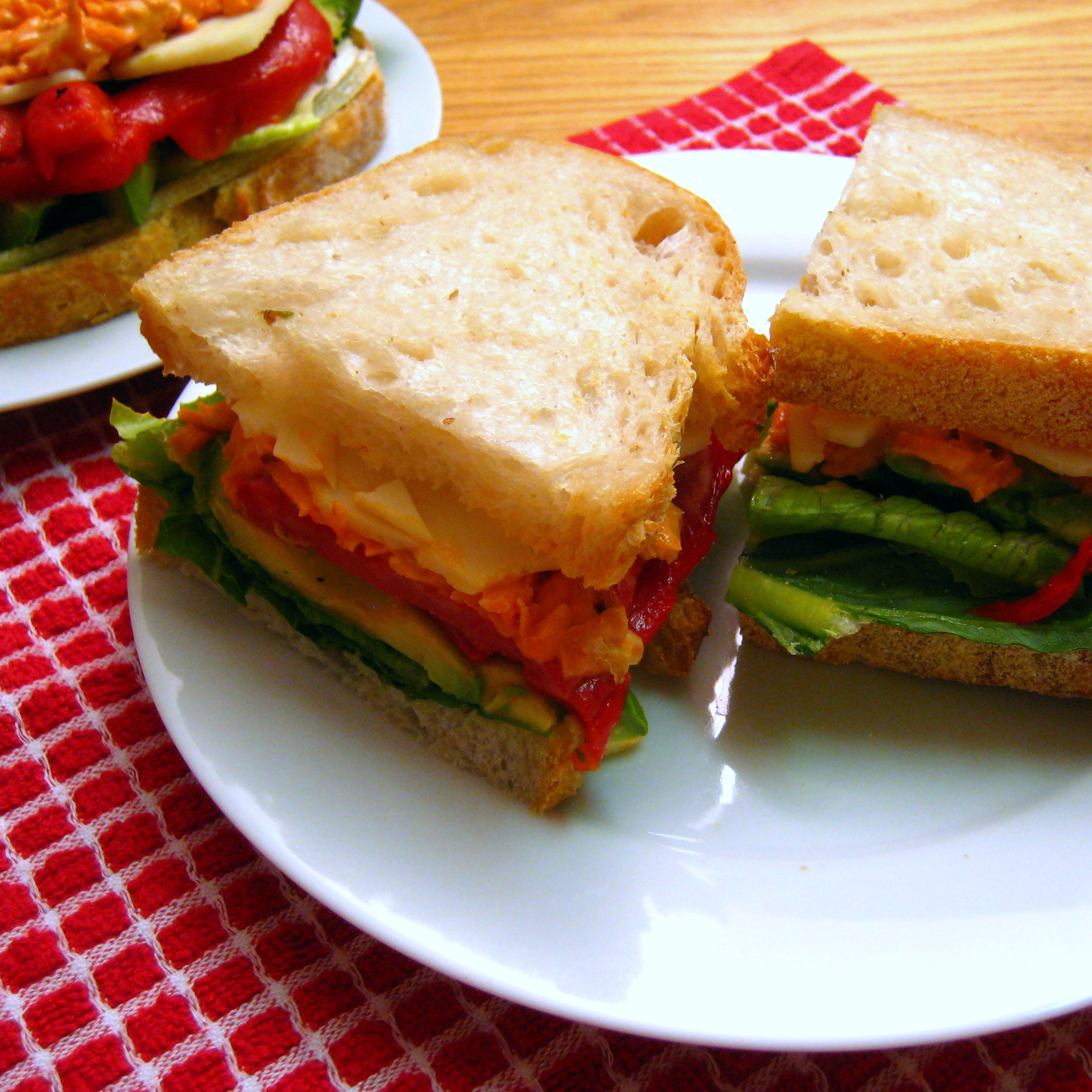 Roasted Red Pepper Sandwiches