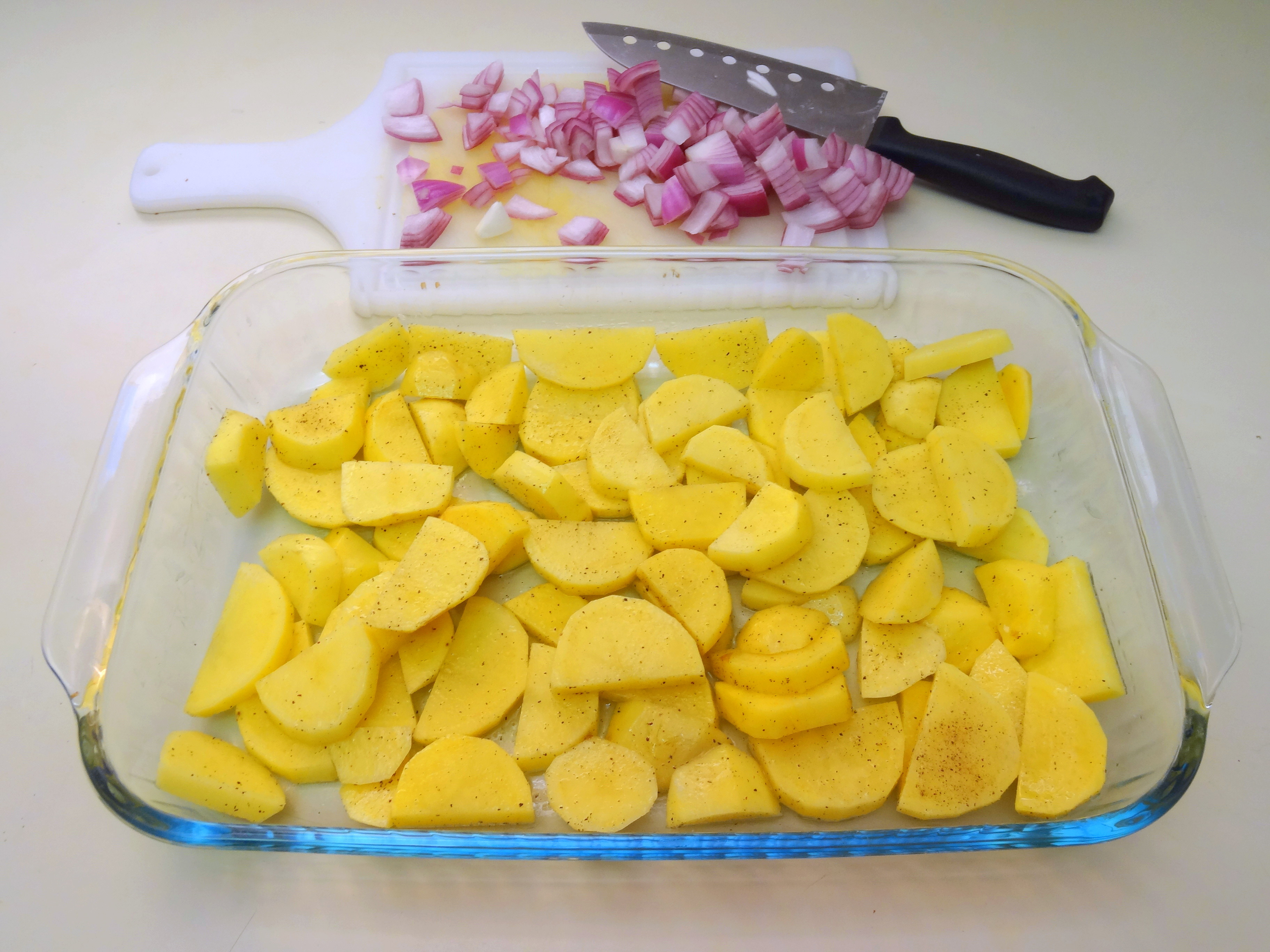 Potatoes for the frittata