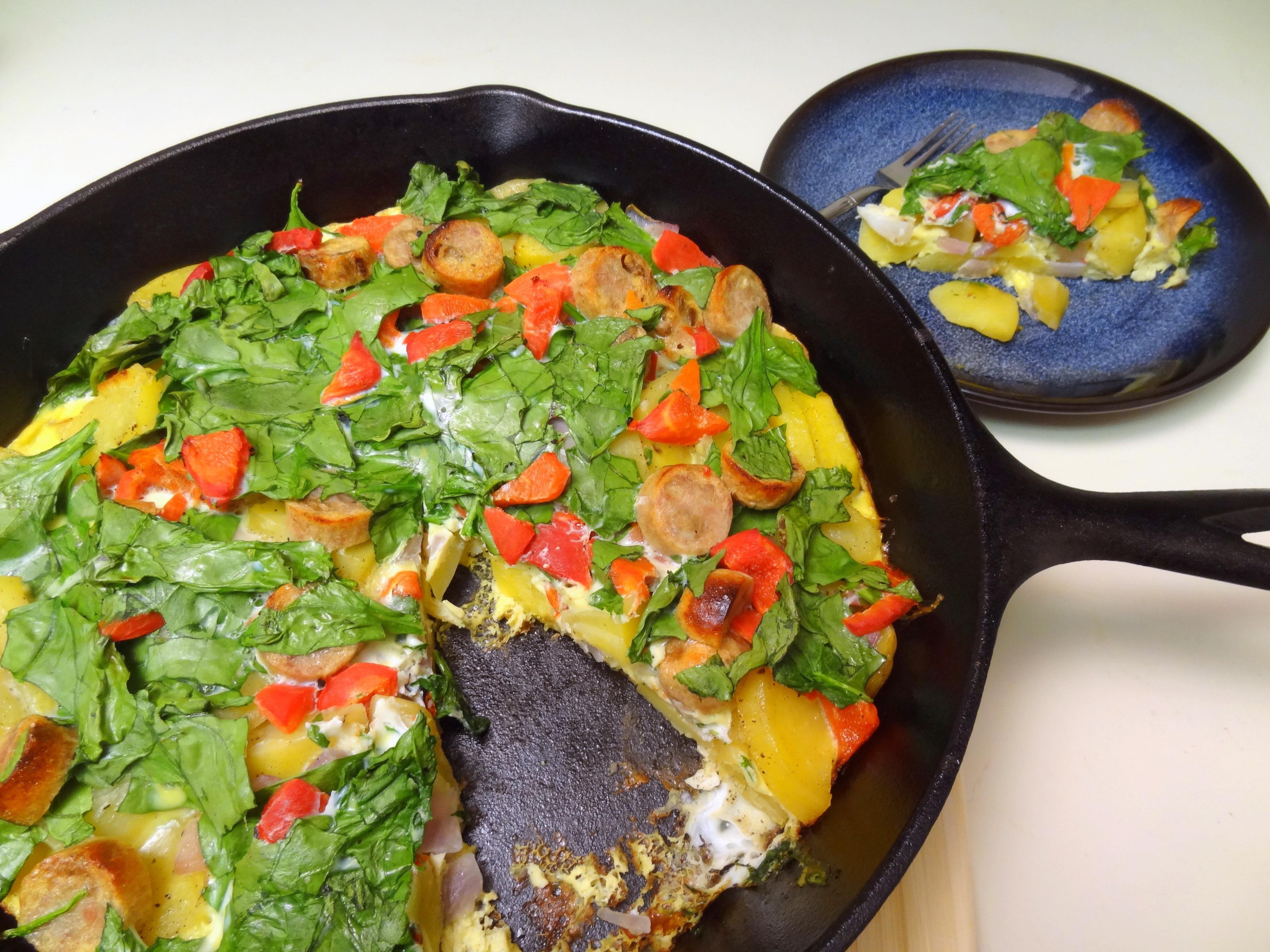potato spinach frittata