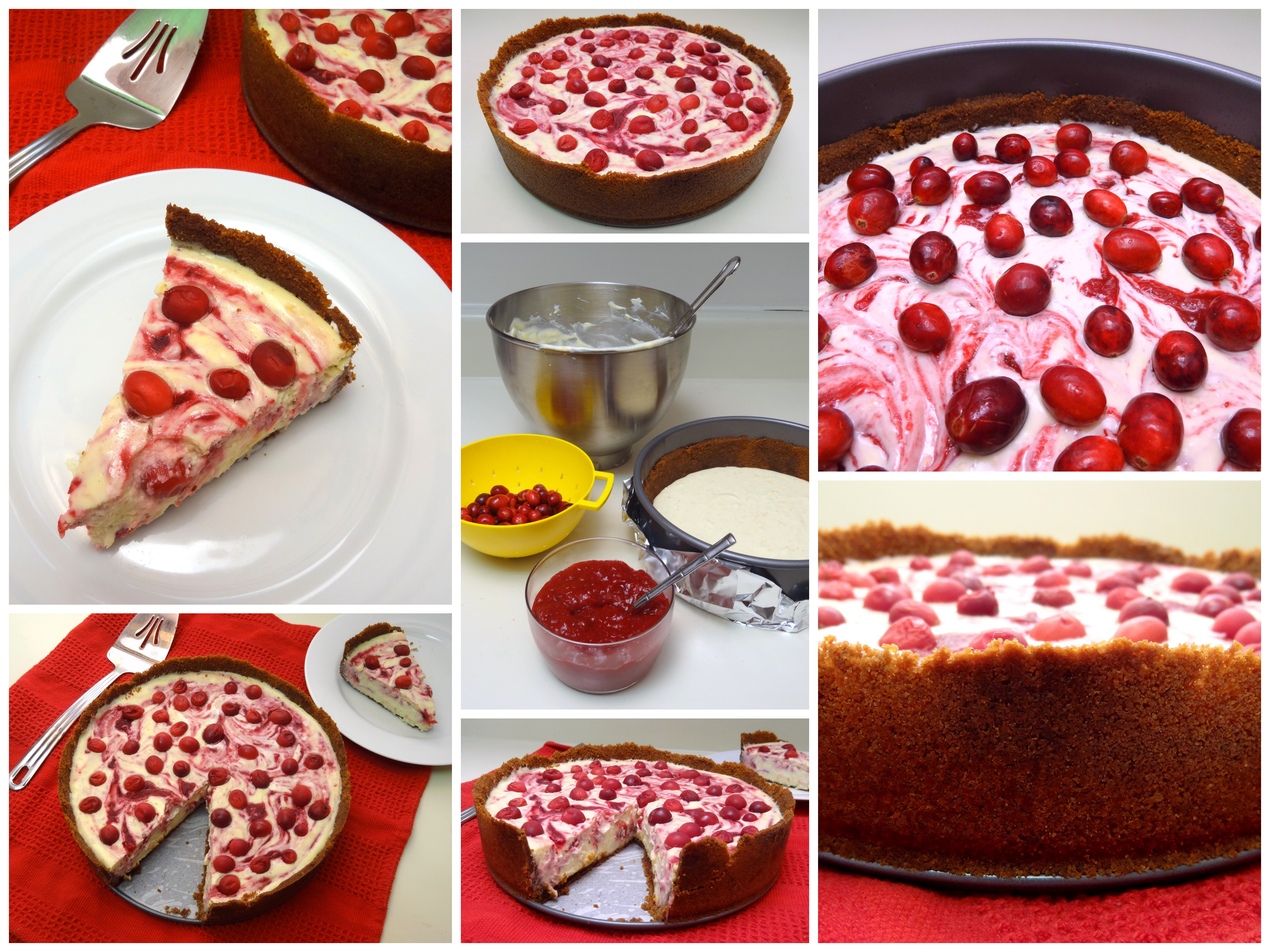 cranberry orange white chocolate cheesecake