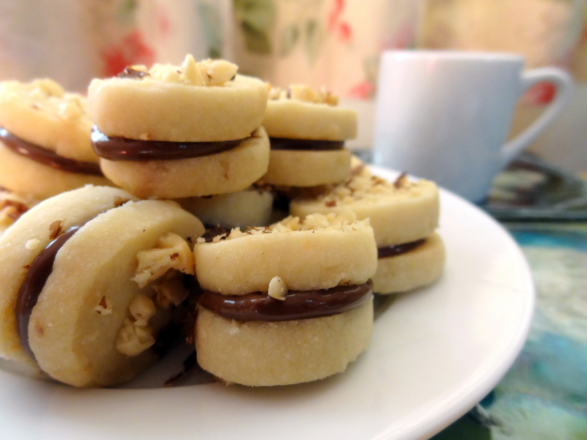 hazelnut coconut shortbread cookies