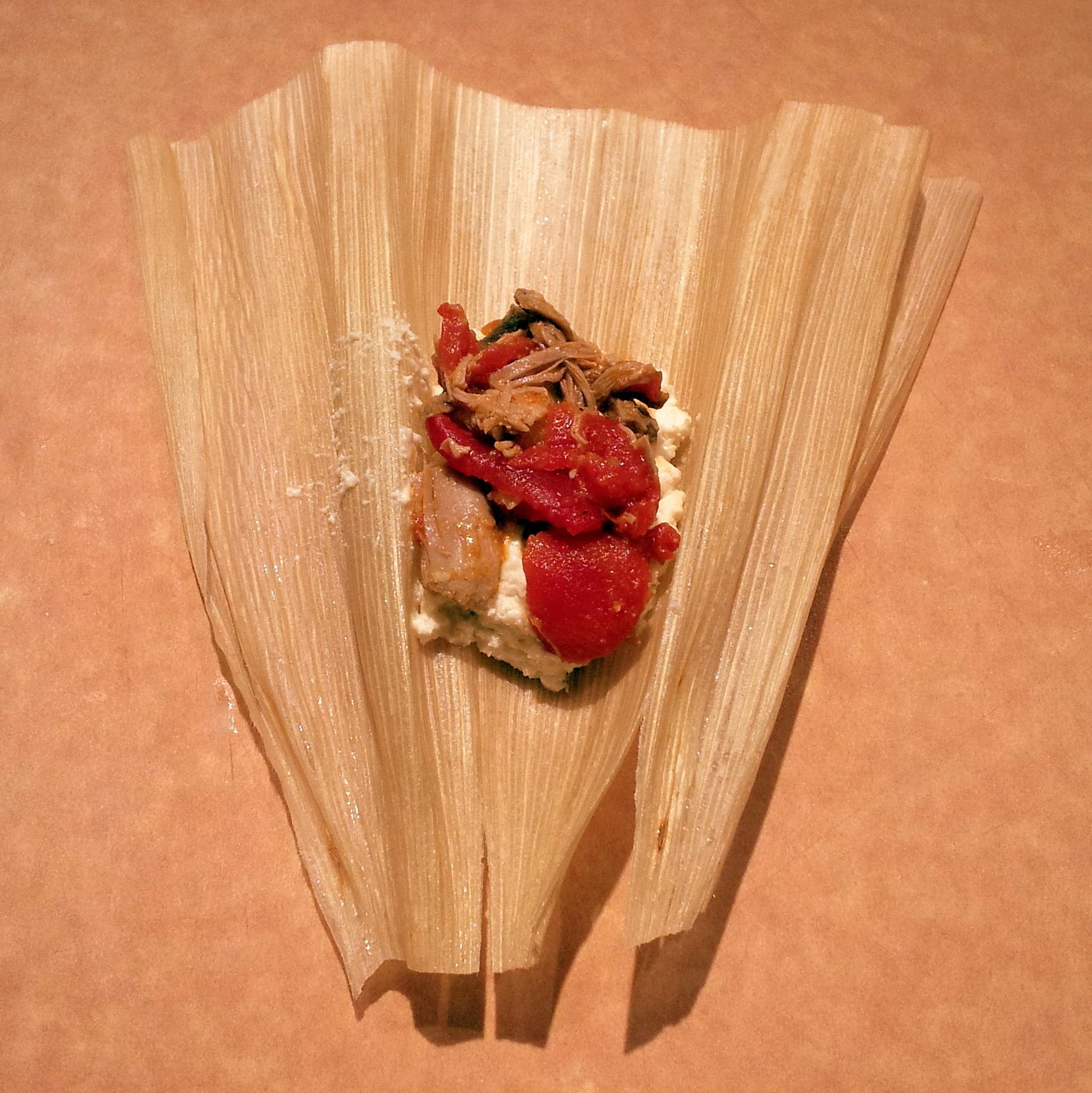 assembling tamales