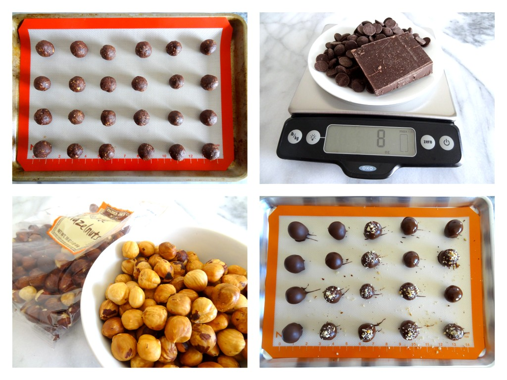 hazelnut truffles step-by-step