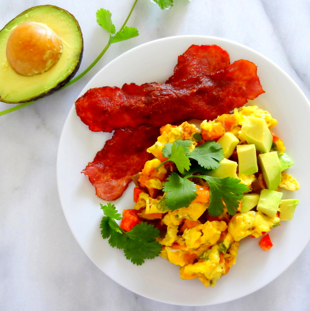 Mexican fiesta breakfast scramble