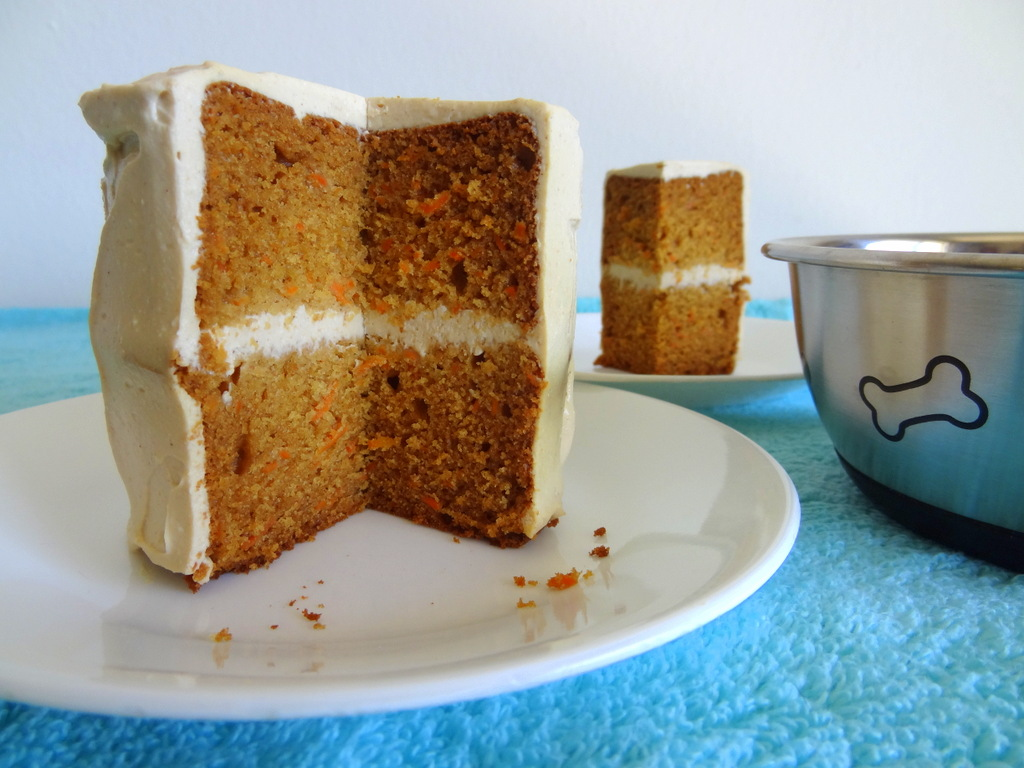 Peanut Butter And Carrot Cake For Dogs