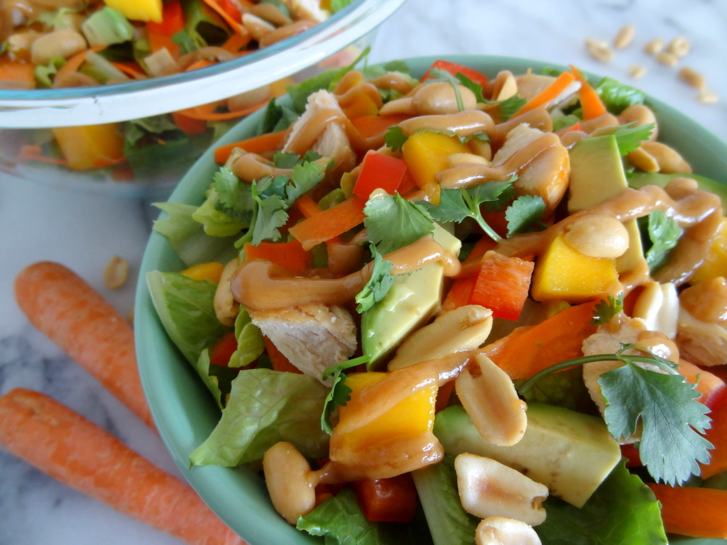 Lemon Chicken With An Avocado, Cilantro And Red Pepper Salad Recipes ...