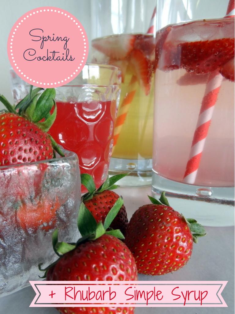rhubarb cocktails