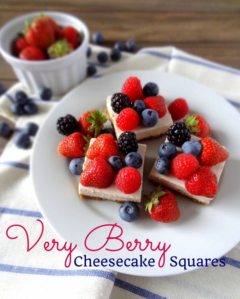 very berry cheesecake squares