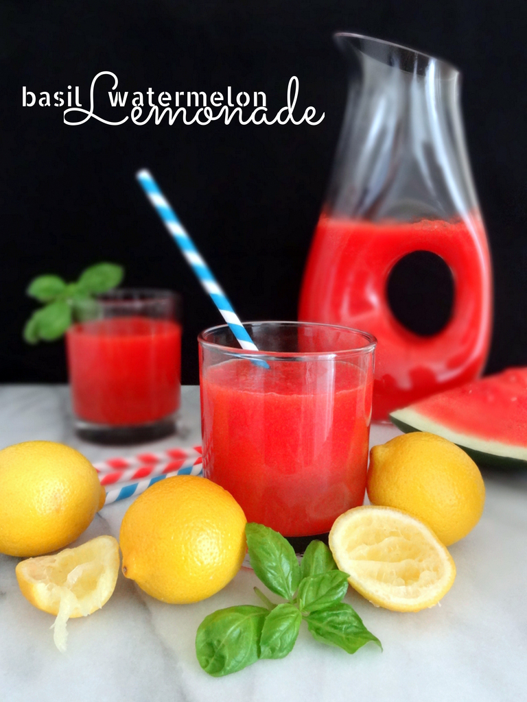 basil watermelon lemonade