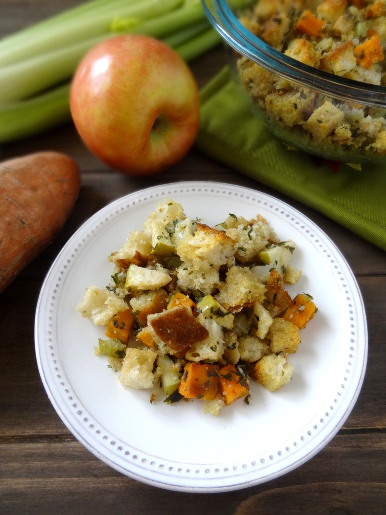 sweet potato and apple stuffing