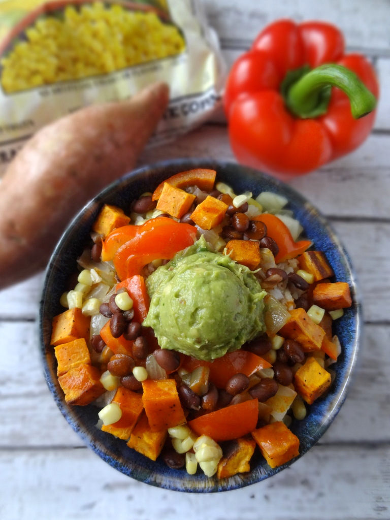 sweet potato enchilada bowls