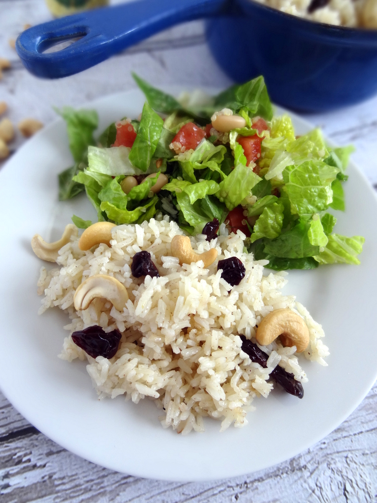 cashew cherry rice pilaf