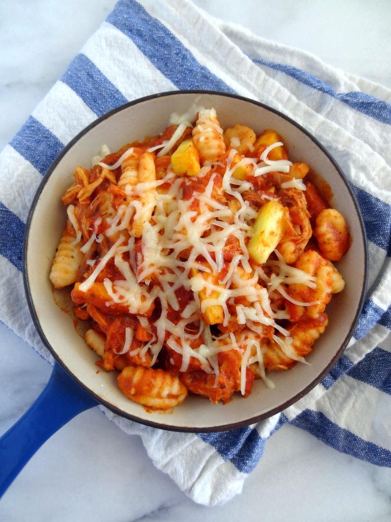 Hawaiian pizza gnocchi